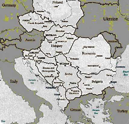 Eastern Europe Click on Romania to see castles locations.
